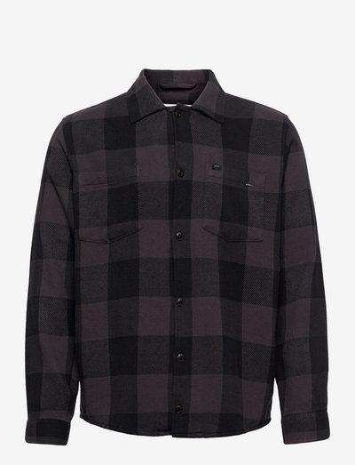 Howard Overshirt - linnen overhemden - dark grey
