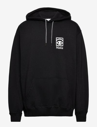 Ögon Hooded Sweatshirt - sweatshirts en hoodies - black