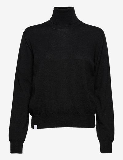 Ava Knit - pologenser - black
