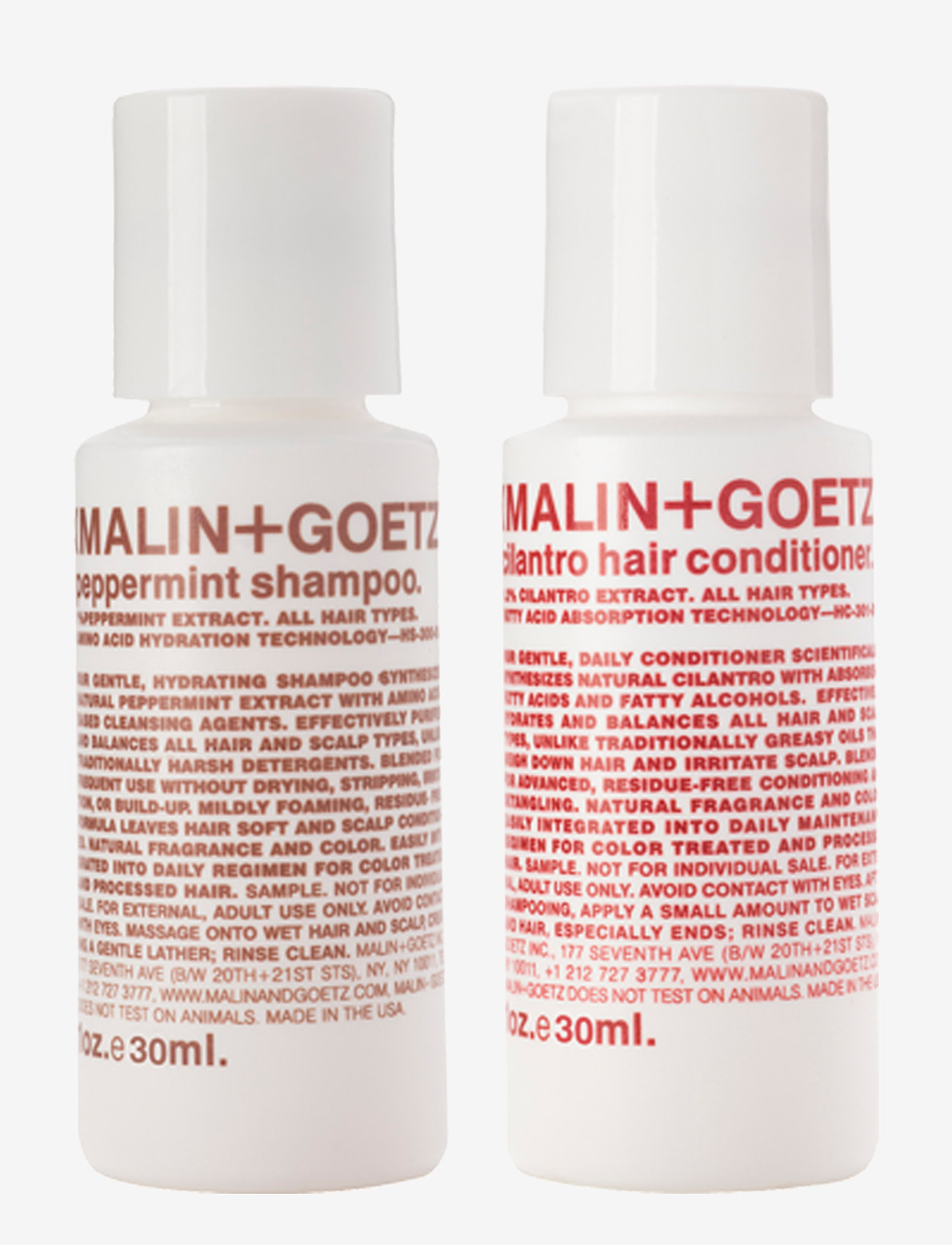 Malin+Goetz - Hair Essentials Duo - hårvårdsset - no color - 1