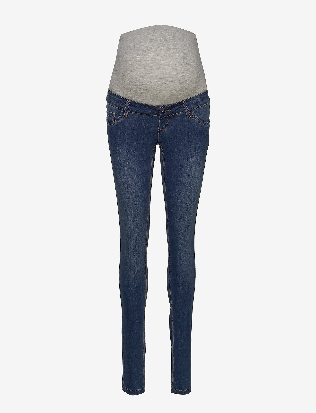 Mamalicious - MLLOLA SLIM BLUE JEANS - slim jeans - blue denim - 0