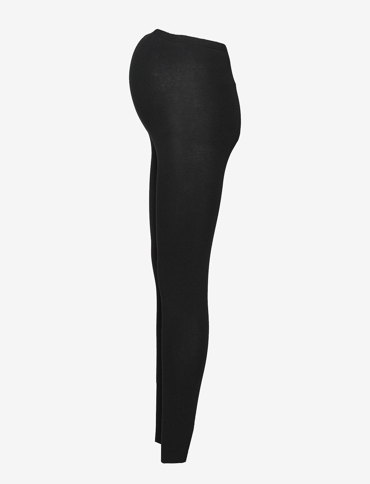 Mamalicious - MLLEA ORG LONG LEGGING 2PACK A. O. NOOS - leggings - black - 1