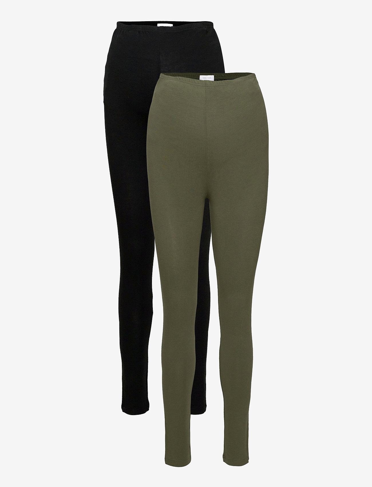 Mamalicious - MLLEA ORG LONG LEGGING 2PACK A. O. NOOS - leggings - black - 0