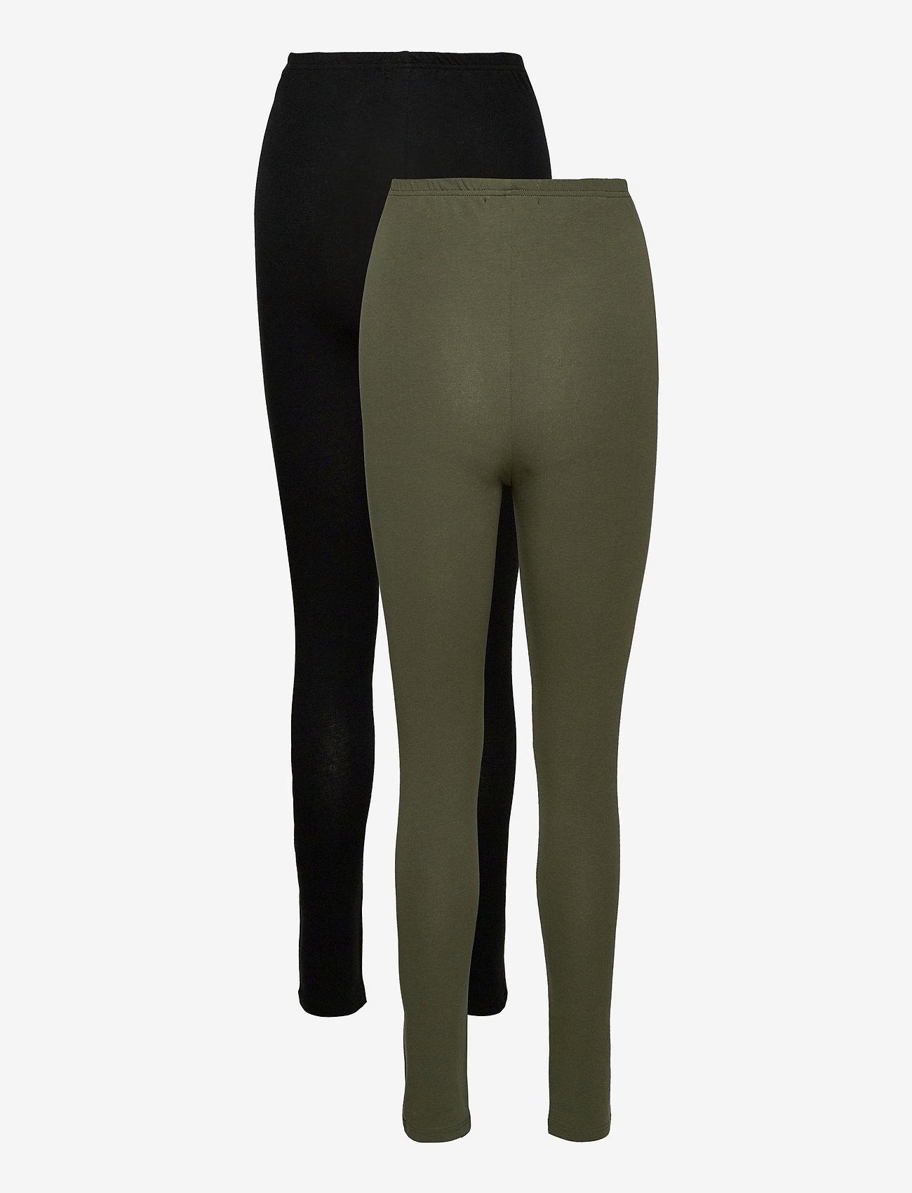 Mamalicious - MLLEA ORG LONG LEGGING 2PACK A. O. NOOS - leggings - black - 5