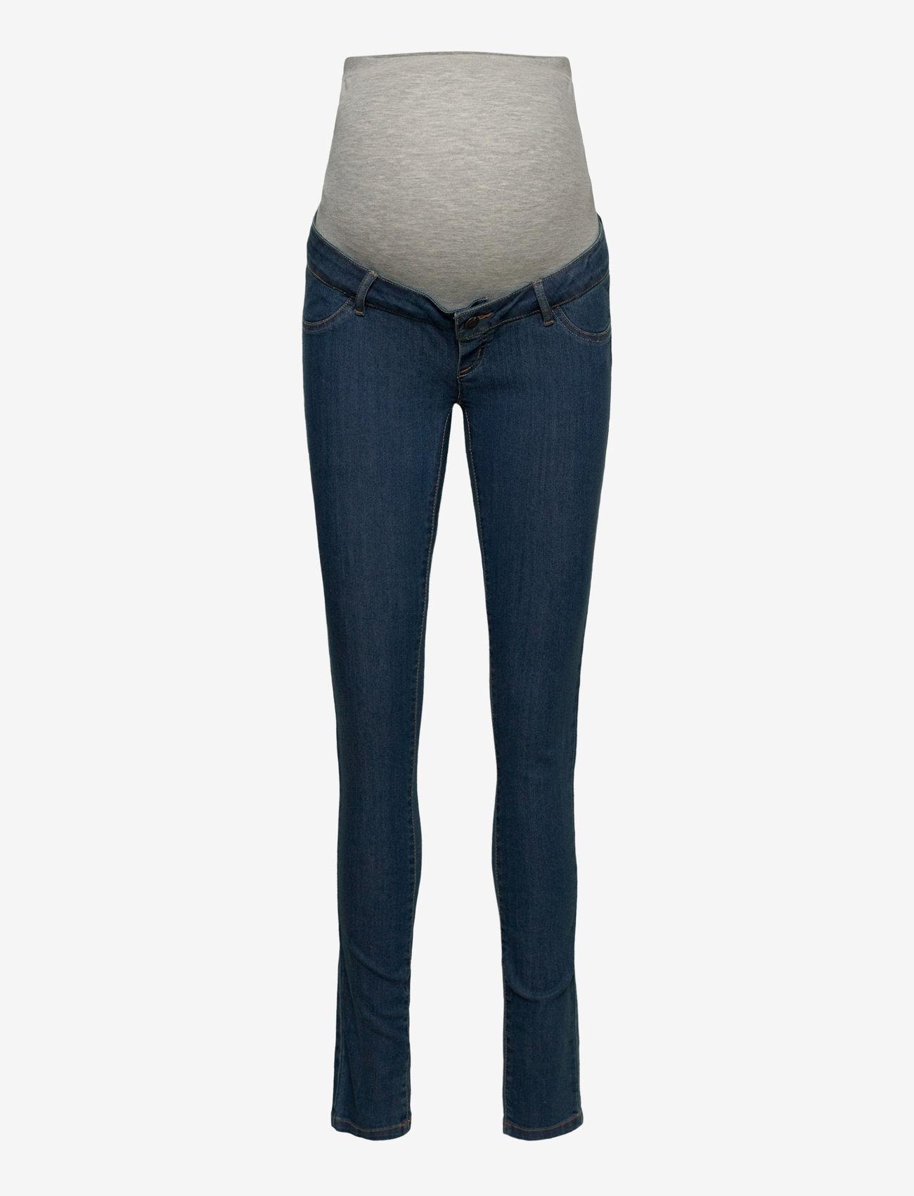 Mamalicious - MLJULIA MEDIUM BLUE SLIM JEANS - slim jeans - medium blue denim - 0