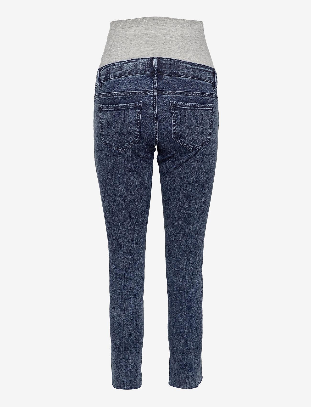 Mamalicious - MLVENTURA CROPPED SLIM JEANS - slim jeans - blue denim - 1