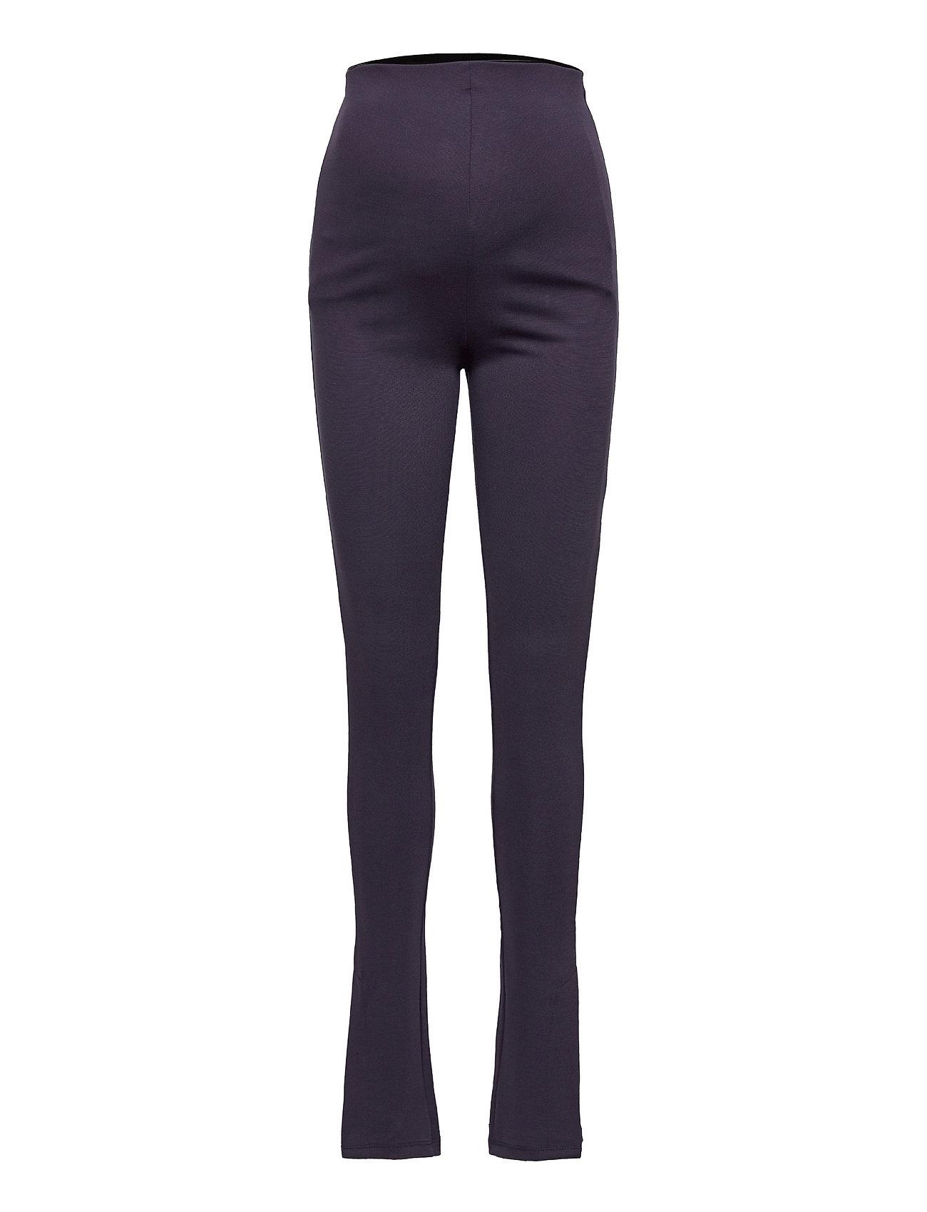 Mlelaine Slit Jersey Legging Leggings Blå Mamalicious