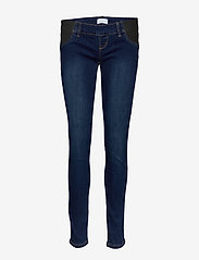 Mamalicious - MLLOLA SLIM DARK BLUE JEANS W ELAST - slim jeans - dark blue denim - 0