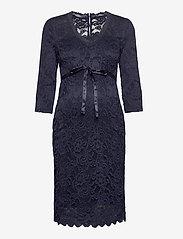 Mamalicious - MLMIVANA 3/4 JERSEY DRESS - bodycon-kjoler - navy blazer - 0