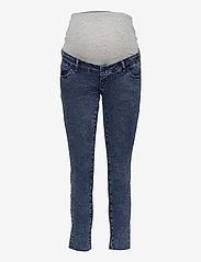 Mamalicious - MLVENTURA CROPPED SLIM JEANS - slim jeans - blue denim - 0