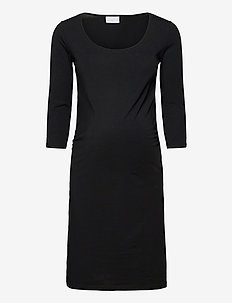 MLLEA ORG 3/4 DRESS  O. - vardagsklänningar - black