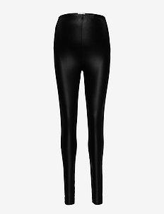 MLNEWTESSA JERSEY HW LEGGINGS NOOS A. - spodnie skórzane - black
