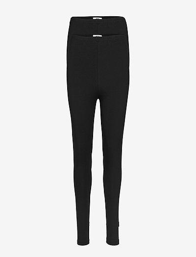 MLLEA ORG LONG LEGGING 2PACK A. O. NOOS - leggings - black
