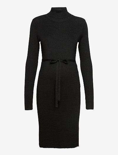MLJACINA L/S KNIT ROLLNECK DRESS A - sommerkjoler - black