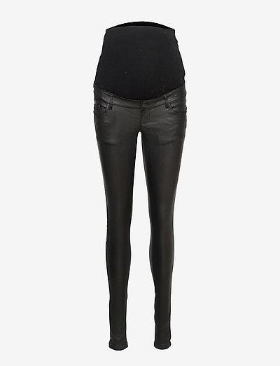 MLSANTOS SLIM COATED HB JEANS - slim jeans - black denim