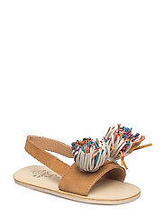 Fringe suede sandals - LIGHT BEIGE