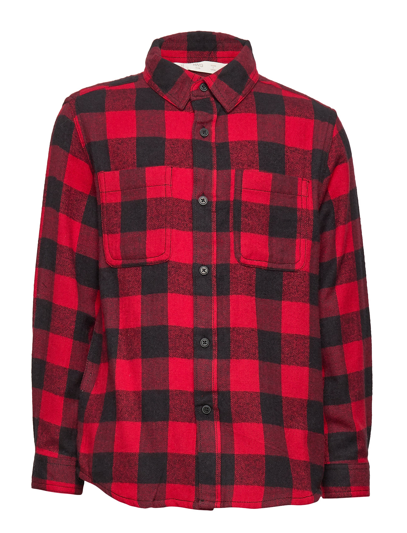 Mango Kids Checked flannel shirt - RED