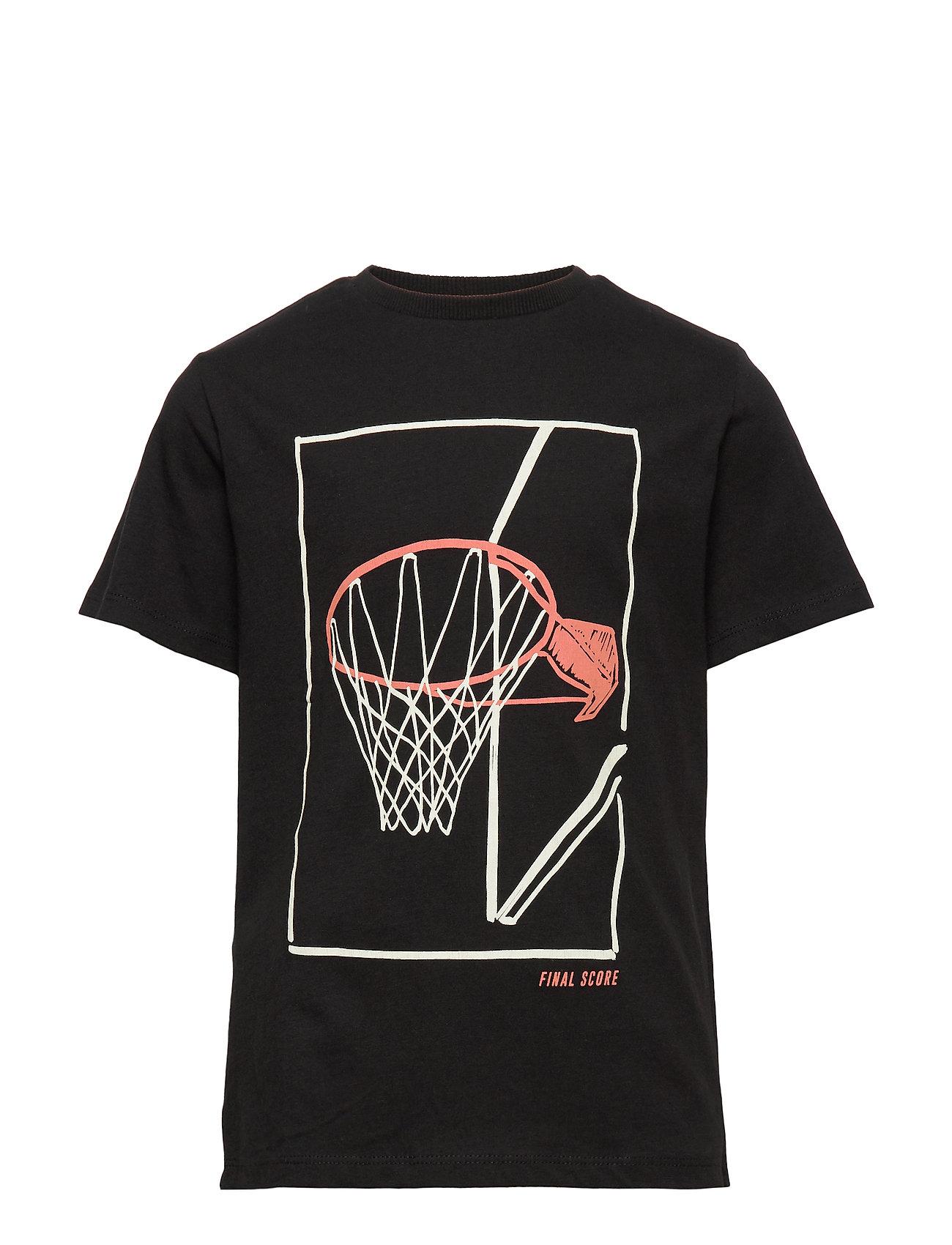 Mango Kids Printed cotton t-shirt - BLACK