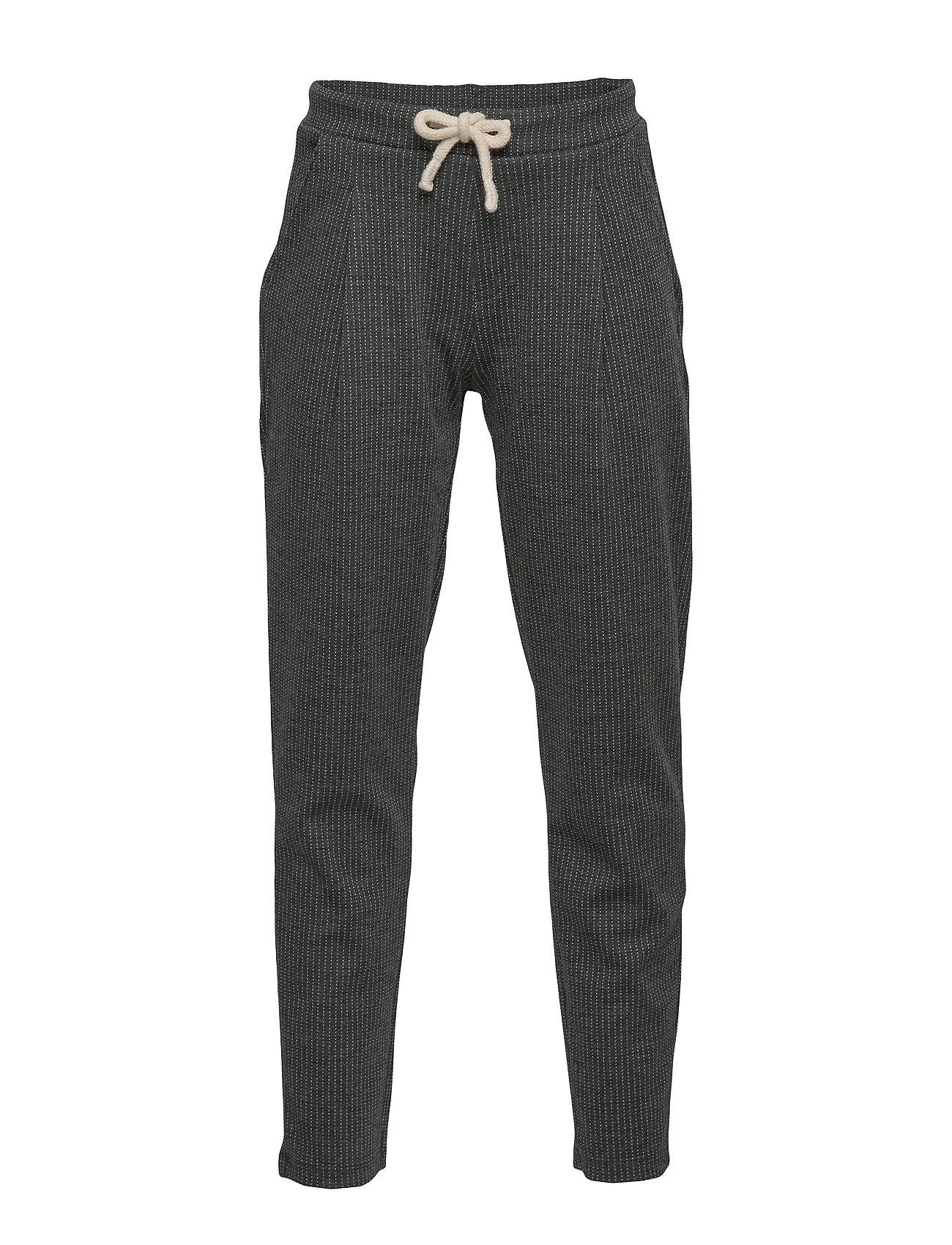 Mango Kids Pinstripe jogging trousers - MEDIUM GREY