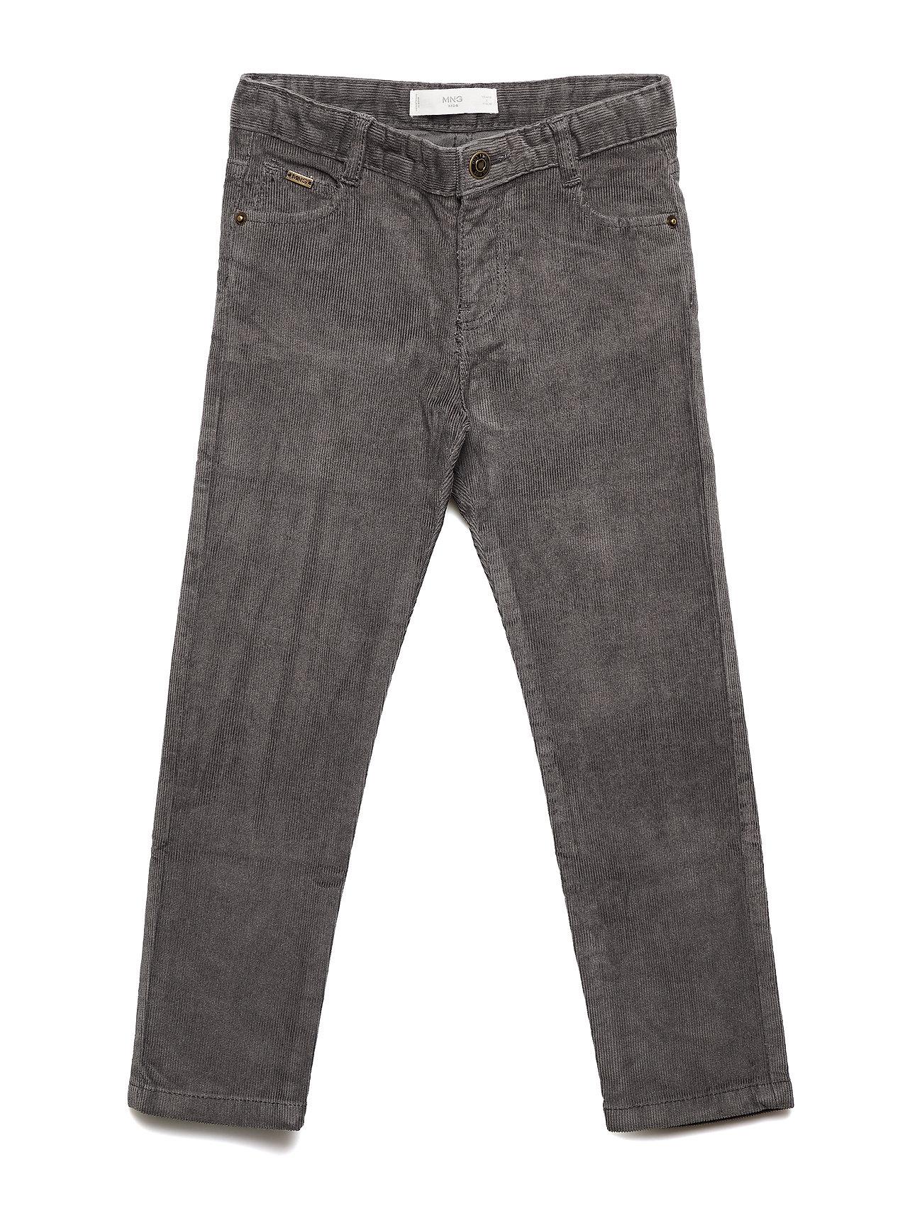Mango Kids Five pocket corduroy trousers - GREY
