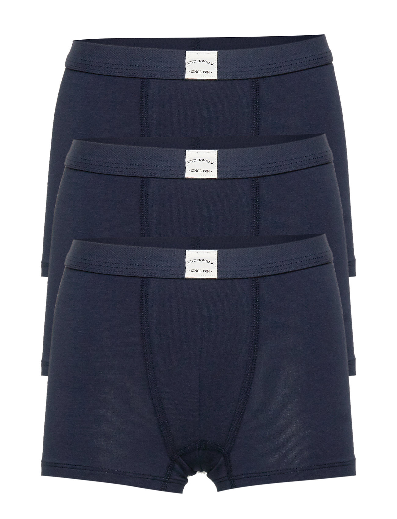 Mango Kids Plain cotton boxer shorts - NAVY