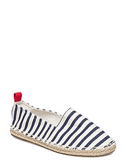 Unisex striped espadrille - MEDIUM BLUE