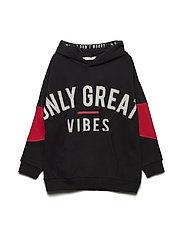 Printed message sweatshirt - BLACK