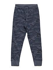 Camo-print jogging trousers - NAVY
