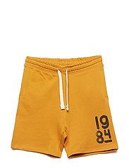 Printed cotton bermuda shorts - MEDIUM YELLOW