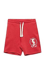 Printed cotton bermuda shorts - RED