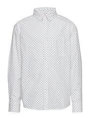 Chest-pocket cotton shirt - NATURAL WHITE