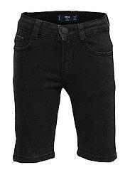 Dark Grey Denim Shorts Shorts Svart MANGO KIDS
