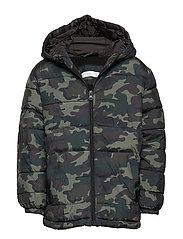 Hood quilted coat - BEIGE - KHAKI