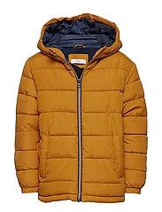Hood quilted coat - MEDIUM YELLOW