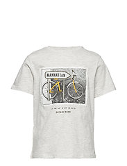 Printed cotton-blend t-shirt - LT PASTEL GREY