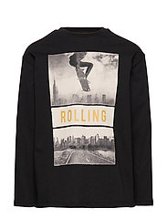 Printed image t-shirt - BLACK