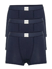 Plain cotton boxer shorts - NAVY