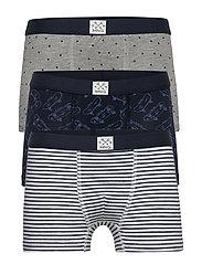 Printed organic cotton boxer shorts - NAVY