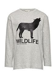 Reversible sequins wolf t-shirt - MEDIUM GREY
