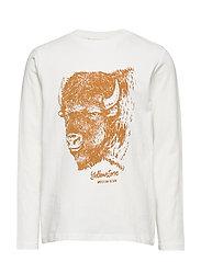 Printed cotton t-shirt - LIGHT BEIGE