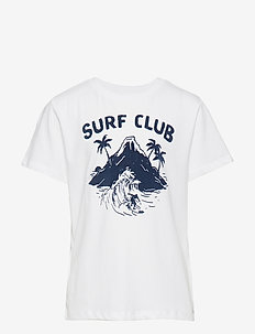 Boats printed cotton t-shirt - WHITE