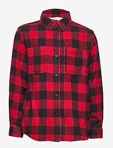 Checked flannel shirt - RED