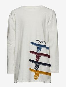 Skater printed t-shirt - NATURAL WHITE