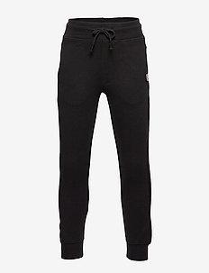 Cotton jogger-style trousers - BLACK
