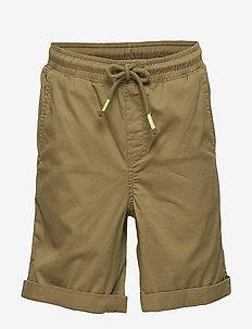 Rolled-up hem bermuda shorts - BEIGE - KHAKI