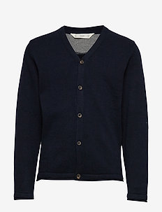 Button knit cardigan - NAVY