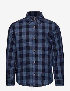 Check denim shirt - OPEN BLUE