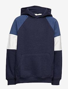 Tricolor sweatshirt - NAVY