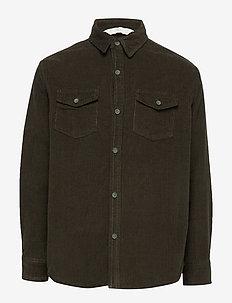 Corduroy overshirt - DARK GREEN