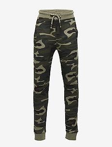 Camo-print jogger trousers - BEIGE - KHAKI